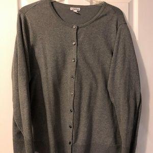 Grey Cardigan Sweater in Womens